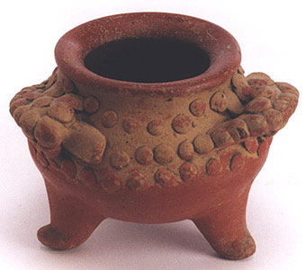 Tripod Vessel With Alligator Motif