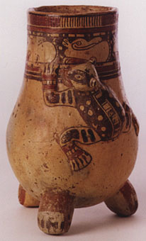 Guanacaste-Nicoya Vessel with an Applique Jaguar