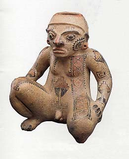 Terracotta Seated Male Figure