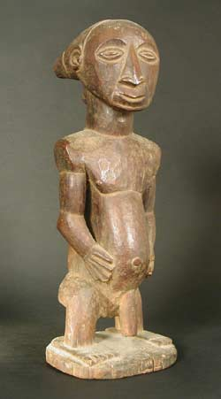 African Art / Hemba Wooden Ancestor Sculpture