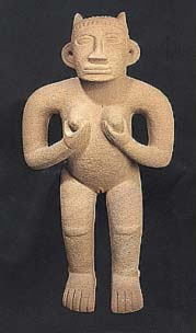 Fertility Basalt Standing Female Figure
