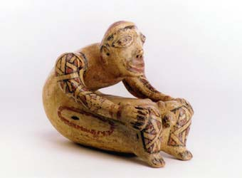 Galo Polychrome Female Figure Giving Birth