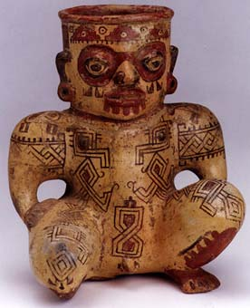 Kneeling Male Effigy Vessel