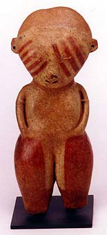Chinesco Style (Type C) Nayarit Terracotta Standing Figure
