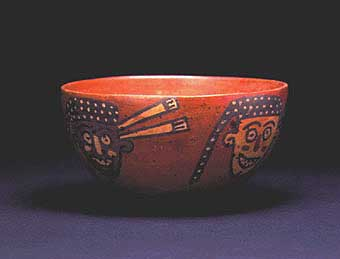Nazca Bowl with Four Trophy Heads