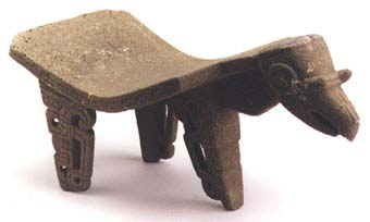 Basalt Metate in the Form of a Bird