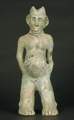 Yoruba Terracotta Sculpture of a Woman