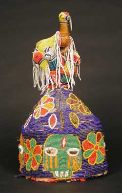 Yoruba Beaded Container