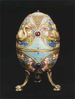 Fabergé Style Egg with Attached Legs