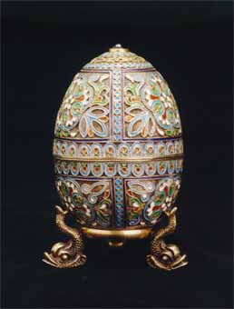 Fabergé Style Egg with Stand