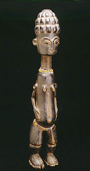 Asante Wooden Sculpture of a Woman