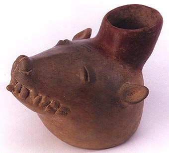 Colima Vessel in the Form of an  Animal Head