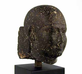 Egyptian Black Stone Head