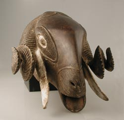 Baule Wooden Mask of a Ram