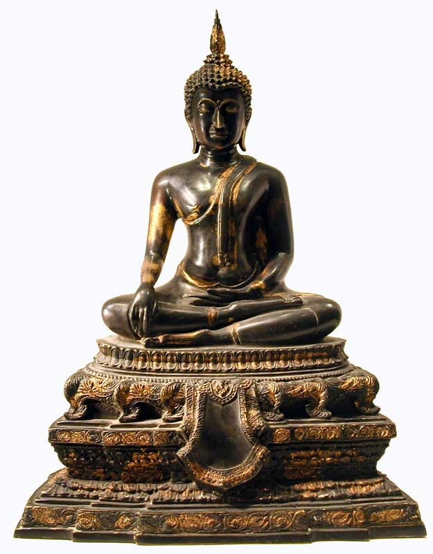Rattanakosin Gilt Bronze Sculpture of the Buddha Seated