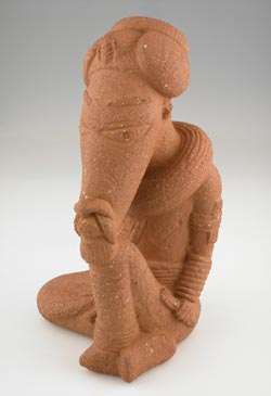 Nok Sculpture of a Seated Man
