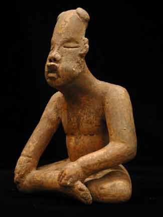Olmec Sculpture of a Seated Man