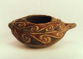 Casas Grandes Polychrome Vessel in the Form of a Fish