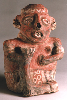 Ixtlán del Rio Style Nayarit Terracotta Sculpture of Seated Woman Holding Bowl
