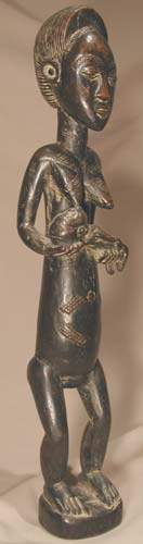Baule Sculpture of a Mother and Child