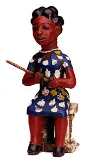 Asante Colonial Sculpture of a Seated Woman