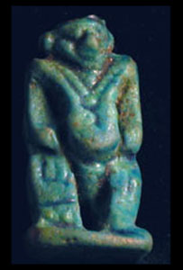 New Kingdom Faience Amulet of Bes