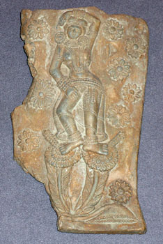 Shunga Terracotta Plaque Depicting a Goddess