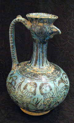 Glazed  Bird-Head Ewer