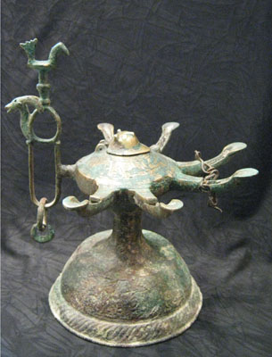 Oil Lamp with Six Wicks