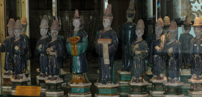 Ming Glazed Terracotta Ceremonial Processional Set Consisting of Ten Figures