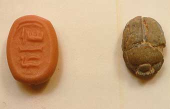 New Kingdom Faience Scarab