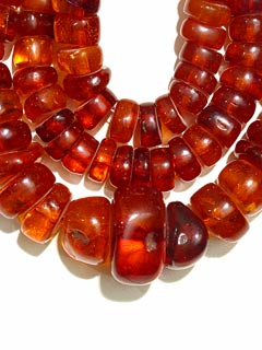 Amber Bead Necklace from Roman to Crusader Period