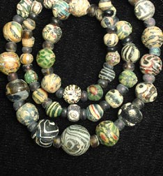 Antique Glass Bead Necklace