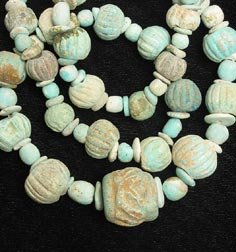 Faience Bead Necklace