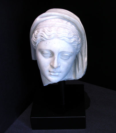 Classical Revival Marble Head of a Goddess