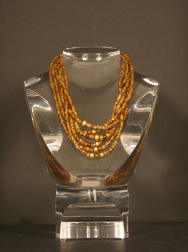 Ancient Glass and Gold Bead Necklace