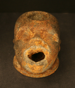 Roman Iron Oil Lamp