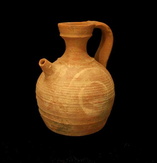 Roman Terracotta Spout Pitcher