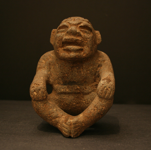 Olmec Stone Sculpture of a Seated Male