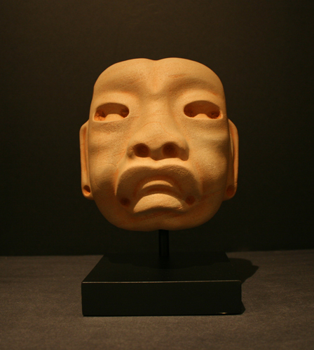 Olmec Stone Mask Depicting a Were-Jaguar
