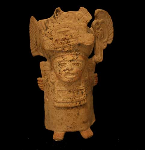 Mayan Terracotta Whistle in the Form of a Priest