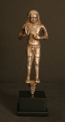 Egyptian Silver Figure of a Male Nobility