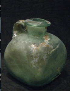 Roman Glass Jug with Four-Sided Body