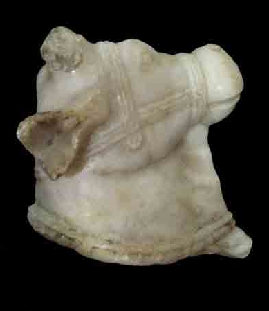 Roman Marble Head of Young Cow