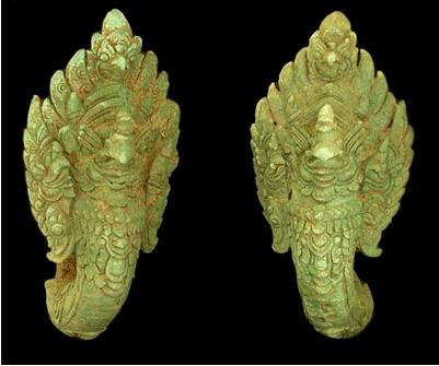 Khmer Pair of Finials in the Form of Garuda