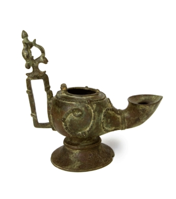 Islamic Bronze Oil Lamp