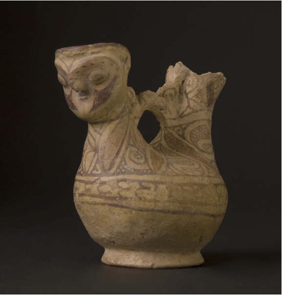 Terracotta Aquamanile in the Shape of a Bird