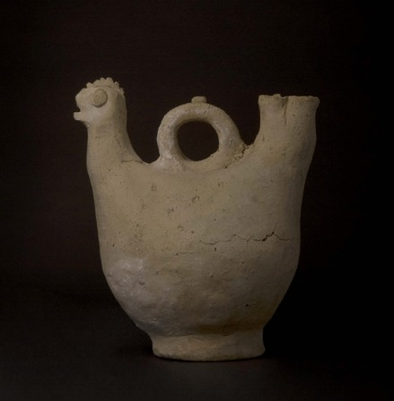 Islamic Terracotta Vessel in the Form of a Chicken