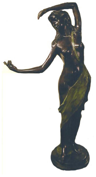Bronze Statue of a Dancing Girl