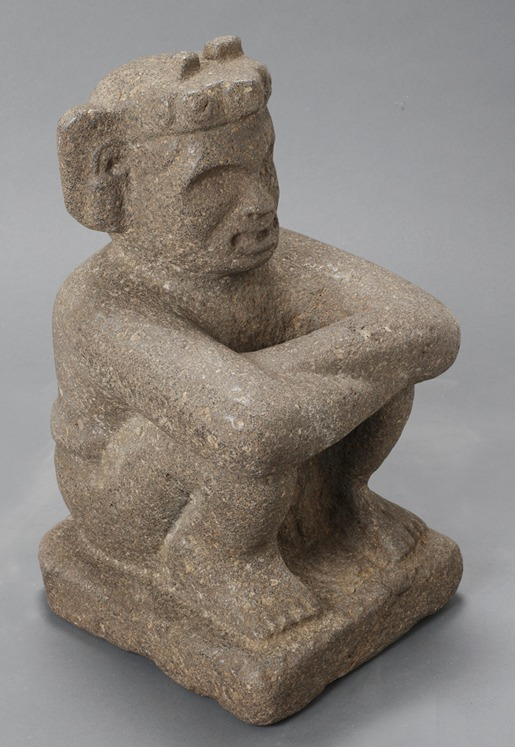 Aztec Stone Sculpture of Xiuhtecuhtli